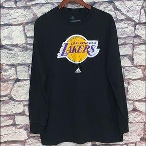 Adidas Los Angeles Lakers Long Sleeve T-Shirt